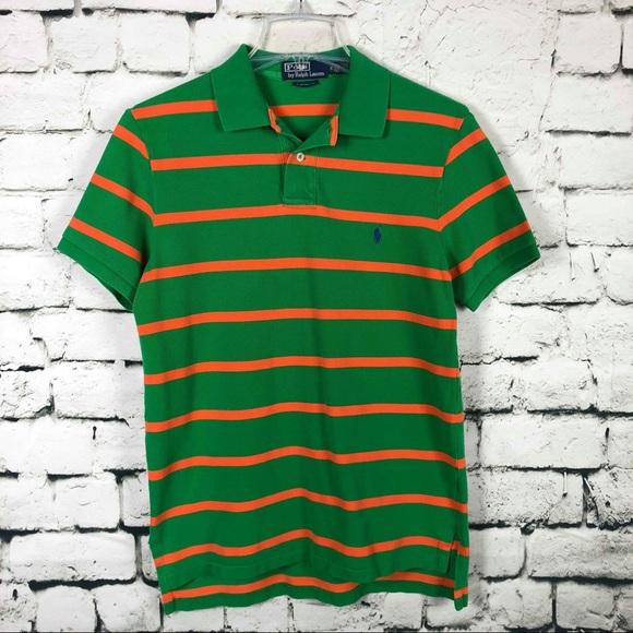 3b88c9dca28 Polo Ralph Lauren Custom Fit Striped Polo Shirt. M 5b3c1ddb12cd4ae4aaa7184f